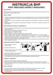 Obrazek Instrukcja obsługi gaśnicy śniegowej 422 XO - 24