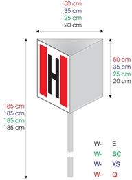 Hydrant zewnętrzny  W-09-E 200x200mm (bez słupka)