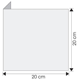 wysięgnik wewnętrzny ścienny 20cm x 20cm