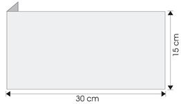 wysięgnik wewnętrzny ścienny 30cm x 15cm