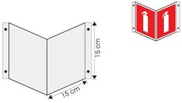 wysięgnik wewnętrzny ścienny 15cm x 15cm