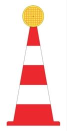 Obrazek pachołek drogowy z lampą