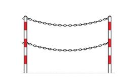 Obrazek bariera wygradzająca łańcuchowa