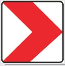 Obrazek tablica prowadząca w prawo