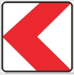 Obrazek tablica prowadząca w lewo