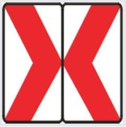 Obrazek tablica prowadząca dwustronna