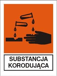 Obrazek dla kategorii Znak Substancja korodująca (700-06)