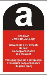 Obrazek dla kategorii Znak Uwaga! Zawiera azbest (700-13)