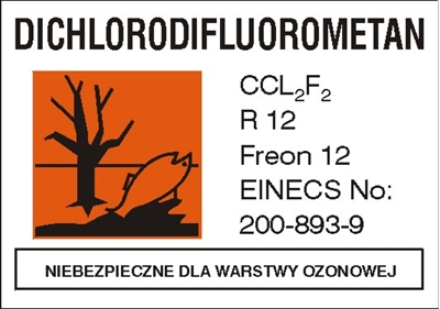Znak Freon 12 (700-14)