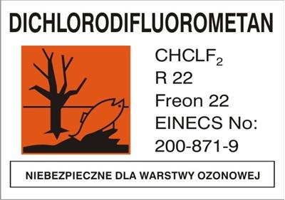 Znak Freon 22 (700-15)