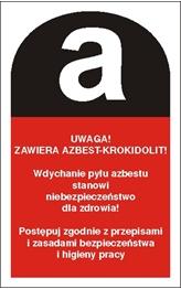 Obrazek dla kategorii Piktogram Uwaga zawiera azbest-krokidolit (700-17)