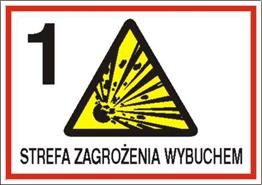 Obrazek dla kategorii Znak 1 strefa zagrożenia wybuchem (827-05)
