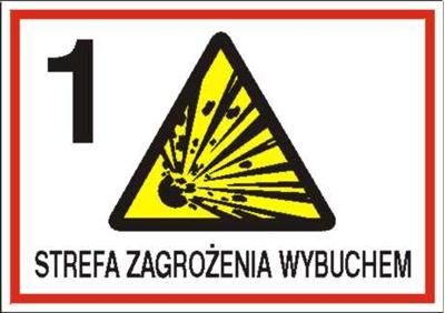 Znak 1 strefa zagrożenia wybuchem (827-05)