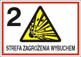 Obrazek dla kategorii Znak 2 strefa zagrożenia wybuchem (827-06)