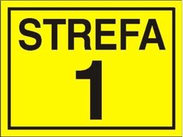 Obrazek dla kategorii Znak Strefa 1 (828-11)