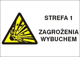 Obrazek dla kategorii Znak Strefa 1 zagrożenia wybuchem (870-23)