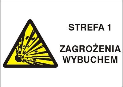 Znak Strefa 1 zagrożenia wybuchem (870-23)