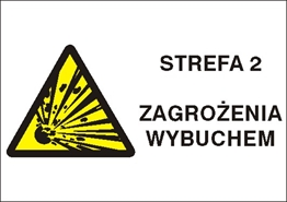 Obrazek dla kategorii Znak Strefa 2 zagrożenia wybuchem (870-24)
