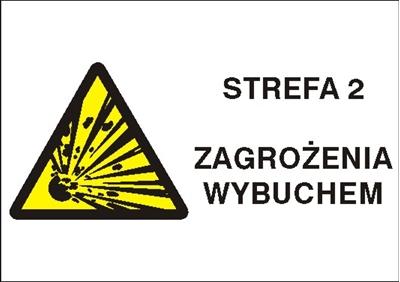 Znak Strefa 2 zagrożenia wybuchem (870-24)