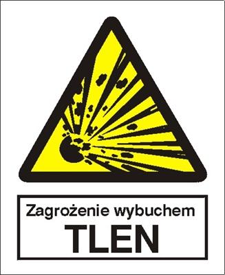 Znak Niebezpieczeństwo wybuchu - Tlen (216-01)
