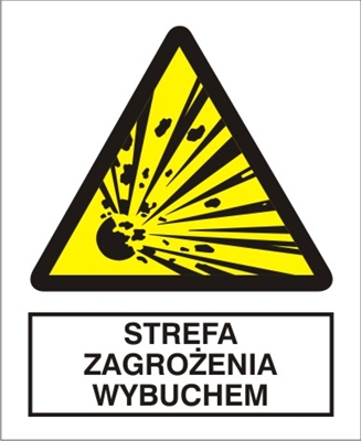 Znak Strefa zagrożenia wybuchem (221-04)
