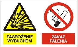 Obrazek dla kategorii Znak Zagrożenie wybuchem. Zakaz palenia (221-10)