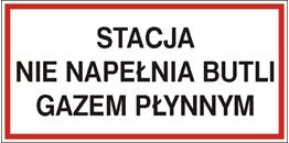 Obrazek dla kategorii Znak Stacja nie napełnia butli gazem płynnym (829-07)