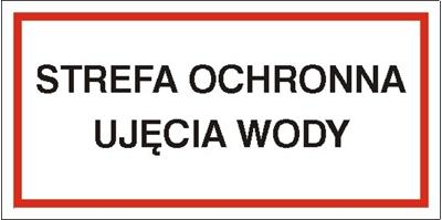 Znak Strefa ochronna ujęcia wody (824)