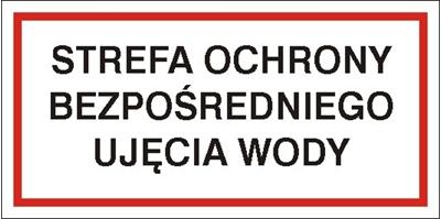 Znak Strefa ochrony bezpośredniej ujęcia wody (824-07)