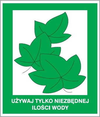 Znak Używaj tylko niezbędnej ilości wody(857-21)