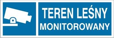 Znak Teren leśny monitorowany (823-26)