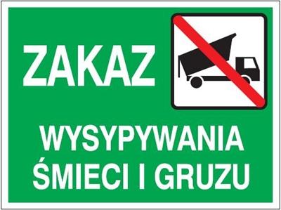 Znak Zakaz wysypywania śmieci i gruzu (857-28)