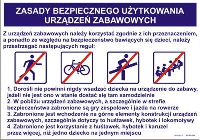 422 XO - 184 Zasady bezpiecznego użytkowania urządzeń zabawowych (422 XO-184)