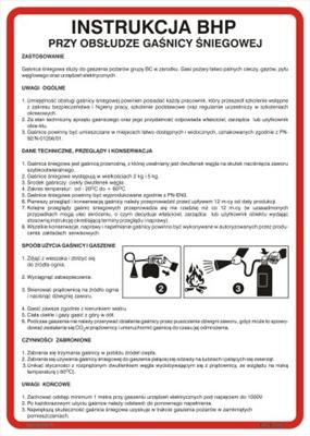 422 XO - 24 Instrukcja obsługi gaśnicy śniegowej (422 XO-24)
