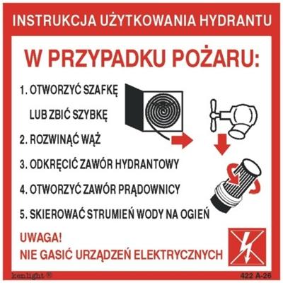 422 AQ - 26 Instrukcja użytkowania hydrantu wewnętrznego (format A)