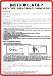 Obrazek dla kategorii 422 XO - 143 Instrukcja BHP przy obsłudze agregatu śniegowego (422 XO-143)