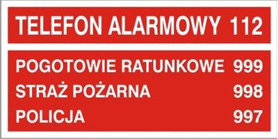 Telefony alarmowe (826-05)