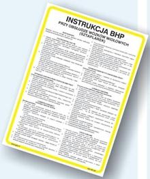 Obrazek dla kategorii Instrukcje BHP - Transport i magazynowanie (422 XO-115)