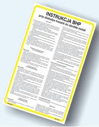 Obrazek dla kategorii Instrukcje BHP - Obróbka metali (422 XO-01)