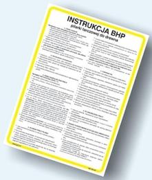 Obrazek dla kategorii Instrukcje BHP - Obróbka drewna (422 XO-165)