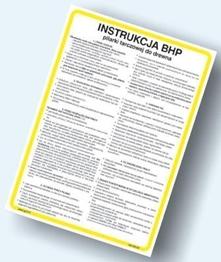 Obrazek dla kategorii Instrukcje BHP - Obróbka tworzyw sztucznych, gumy, papieru (422 XO-114)