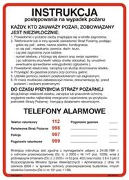 Obrazek dla kategorii 222 XO - 01 Instrukcja alarmowania (222 XO-01)