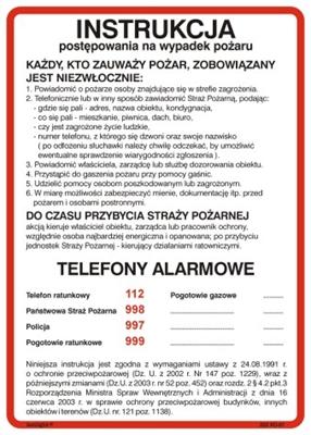 222 XO - 01 Instrukcja alarmowania (222 XO-01)