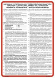 Obrazek dla kategorii 222 XO - 04 Instrukcja postępowania na wypadek pożaru dla magazynów i składów gazów palnych (222 XO-04)