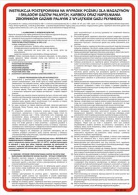 222 XO - 04 Instrukcja postępowania na wypadek pożaru dla magazynów i składów gazów palnych (222 XO-04)