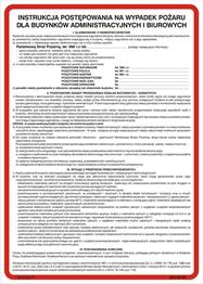 Obrazek dla kategorii 222 XO - 09 Instrukcja postępowania na wypadek pożaru dla budynków administracyjnych i biurowych (222 XO-09)