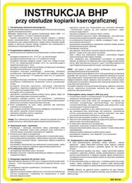 Obrazek Instrukcja BHP pracy przy obsłudze kopiarki kserograficznej 422 XO - 04