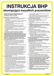 Obrazek Instrukcja BHP obowiązująca wszystkich pracowników 422 XO - 06