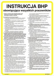 Obrazek dla kategorii 422 XO - 06 Instrukcja BHP obowiązująca wszystkich pracowników (422 XO-06)