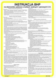 Obrazek dla kategorii 422 XO - 02 Instrukcja BHP na stanowisku palacza w kotłach wodnych i parowych (422 XO-02)